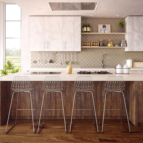 Die saubere und aufgeräumte Küche